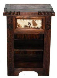 Dark Cowhide Night Stand