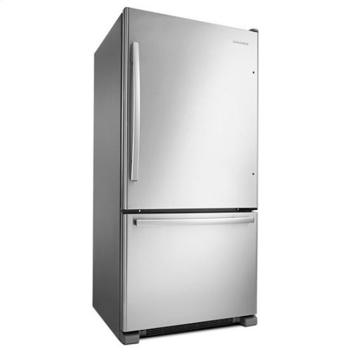 """33-inch Wide Bottom-Freezer Refrigerator with EasyFreezer™ Pull-Out Drawer """" 22 cu. ft. Capacity - white"""