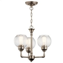 Niles 3 Light Convertible Chandelier Antique Pewter
