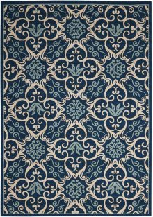 Caribbean Crb02 Nav Rectangle Rug 5'3'' X 7'5''