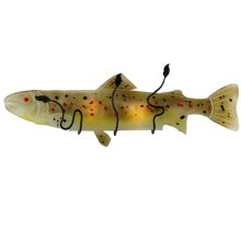"""30""""W Metro Fusion Brown Trout Glass Wall Sconce"""