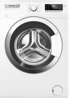 """24"""" 2.5 cu ft Front Load Washer Chrome Door for Heat Pump Dryer Product Image"""