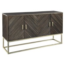 Chevron Door Cabinet