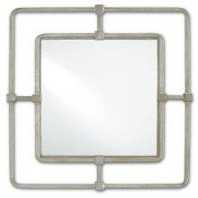 Metro Silver Square Mirror