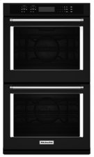 """27"""" Double Wall Oven with Even-HeatTM True Convection - Black Product Image"""