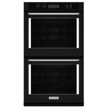 "27"" Double Wall Oven with Even-Heat True Convection - Black"