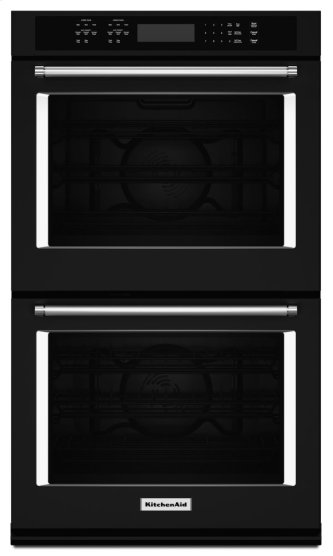 "27"" Double Wall Oven with Even-HeatTM True Convection - Black"