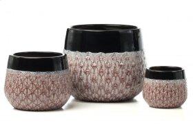 Mardis Gras Planter - Set of 3