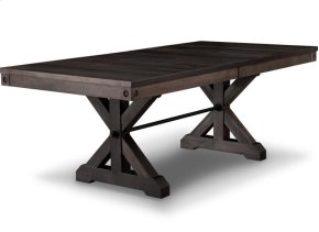 Rafters 42x84 Solid Top Trestle Table