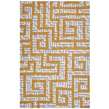 Nahia Geometric Maze 5x8 Area Rug in Ivory, Light Gray and Banana Yellow