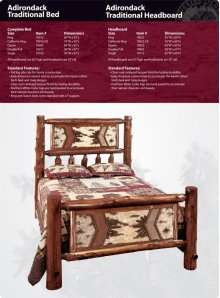Adirondack Traditional Bed