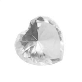 Clear Glass Heart Diamond