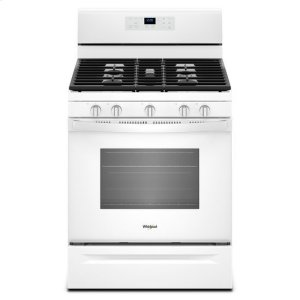 Whirlpool® 5.0 cu. ft. Freestanding Gas Range with Center Oval Burner - White - WHITE