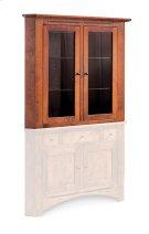 Aspen Closed Corner Hutch Top, Medium, Antique Glass Product Image