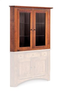 "Aspen Closed Corner Hutch Top, 38"", Antique Glass Product Image"