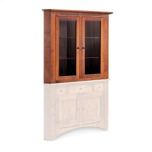 "Aspen Closed Corner Hutch Top, 38"", Antique Glass"