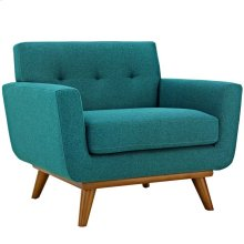 Engage Upholstered Fabric Armchair in Teal