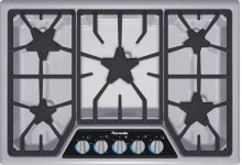 "Masterpiece 30"" Stainless steel 5-burner gas cooktop"