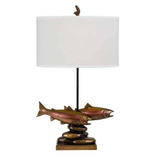 150W Trout Resin Table Lamp