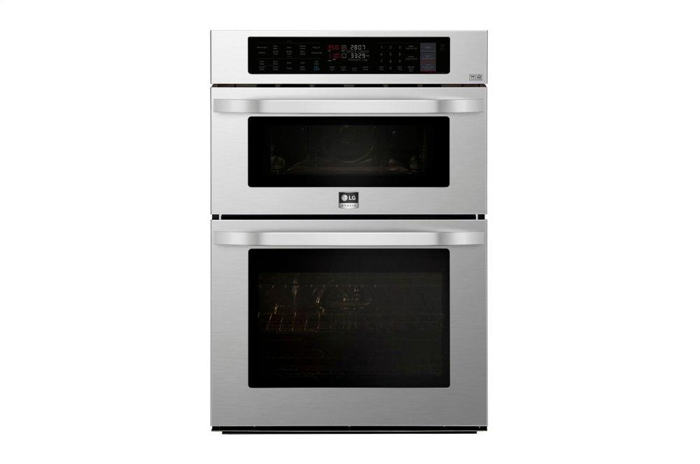 LG STUDIO 1.7/4.7 cu. ft. Smart wi-fi Enabled Combination Double Wall Oven  STAINLESS STEEL