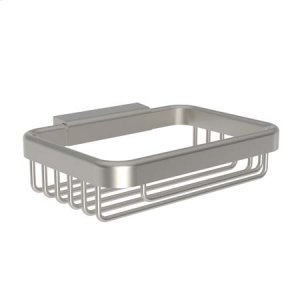 Satin Nickel Soap Basket