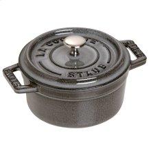 Staub Cast Iron 0.25-qt Mini Round Cocotte, Graphite Grey
