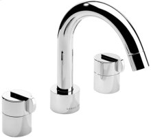 Chrome Plate 3 Hole widespread lavatory filler with swivel spout and pop-up waste