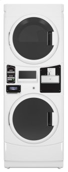 Commercial Electric Super-Capacity Stack Washer/Dryer, Coin Drop-Ready Product Image