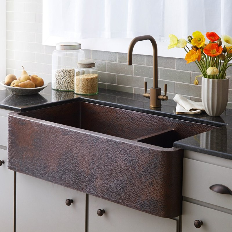 Inspirational Hammered Nickel Farmhouse Sink