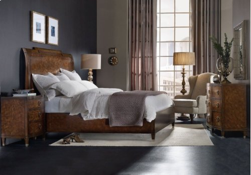 Skyline California King Sleigh Bed with Low Footboard