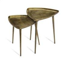 Lucia Triangular Side Tables - Brass