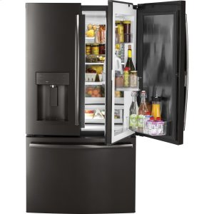 ®27.8 Cu. Ft. French-Door Refrigerator with Door In Door - BLACK STAINLESS