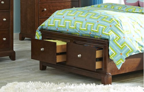 Impressions Panel Bed with Storage Twin