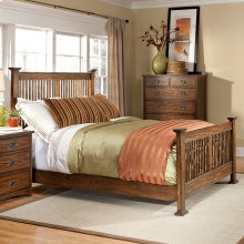 Bedroom - Oak Park King Size Bed