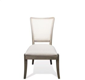 Vogue Upholstered Side Chair Gray Wash finish