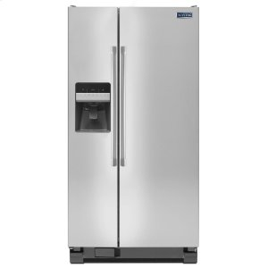 Maytag36-inch Wide Side-by-Side Refrigerator with External Ice and Water - 25 cu. ft.