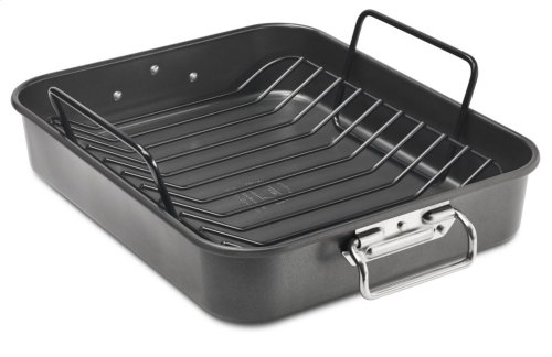 "16"" Aluminized Steel Roaster with Rack - Other"