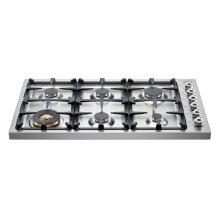 36 6-Brass Burner Drop-in Cooktop