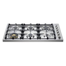 36 6-Brass Burner Drop-in Cooktop