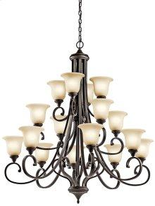 Monroe 16 Light Multi-Tier Chandelier Olde Bronze®