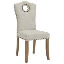 Elise Side Chair in Grey & Beige