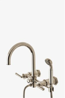 Henry Exposed Wall Mounted Tub Filler with Handshower and Metal Lever Handles STYLE: HNXT30