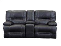 E17 Ballantyne Loveseat W\ Console 2411lv Black Product Image