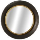 Gunmetal Bowl Wall Mirror with Gold Edge Product Image