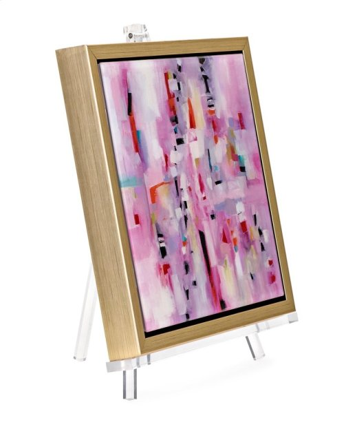 TY Violet Acrylic Framed Wall Decor w/Easel