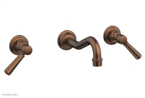 HENRI Wall Tub Set - Lever Handles 161-57 - Antique Copper