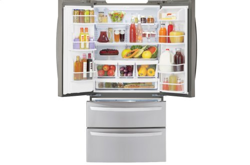"""Ultra-Large Capacity 4 Door French Door Refrigerator with Ice & Water Dispenser (Fits a 33"""" Opening)"""