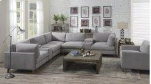 Emerald Home Macyn 7pc Sectional Gray U5700-05-7pcset-k