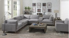 Emerald Home Macyn 7pc Sectional Gray U5700-05-7pcset-k
