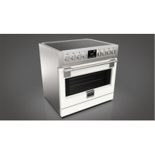 "36"" INDUCTION PRO RANGE - MATTE WHITE"